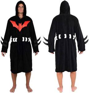 DC Comics Batman Beyond Costume Hooded Fleece Plush Robe (One Size)