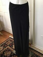 New St. John Evening Collection Long Black 100% Silk Skirt Sz 10
