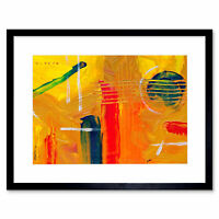 Abstract Expressionism Painting Guitar Art Print Framed Poster Wall Decor