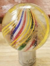 """Antigue Original Hand made large Swirl  1  13/8"""" Glass Marble Germany"""