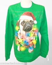 Pugly Pug Men's Ugly Christmas Sweatshirt from Fifth Sun (SIZE Medium) NEW!