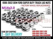 Chrome 1999-2002 Ford F-250 -350 Excursion M14x2.0 USA Factory Lug Nuts