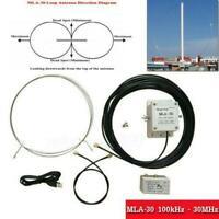 MLA-30 Loop Antenne Active Recevoir Antenna 100kHz - 30MHz pour Short Wave Radio