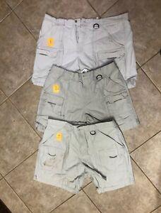 Columbia PFG Brewha II Fishing Hiking Cargo Shorts Light Khaki XL