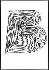 """MARIO CEROLI """" lettera B """" fotolitografia firmata,numerata,timbrata Bolaffi Arte"""