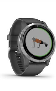 Garmin vívoactive 4 45mm Case with Silicone Band GPS Running Watch - Black with