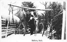 RPPC Baldwin, Michigan Deer Hunting c1950s Real Photo Vintage Postcard