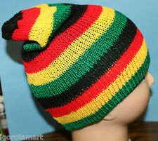 Mens Rasta Slouch Benny Beanie Hat Clothes Men's Turn-up Cap Hat