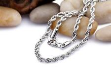 Silver Tone Men/Women's 2mm 18inch Rope Chain Stainless Steel Necklace GIFT