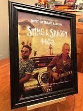 "BIG 10x13 FRAMED ORIGINAL STING & SHAGGY ""44/876"" LP ALBUM CD PROMO AD"