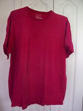 Nordstrom Crewneck Short Sleeve Organic Cotton Men's T-Shirt Wine Burgundy  XL