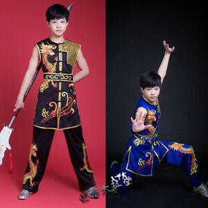 Silk Competition Martial Arts Kung Fu Uniform Nanquan Suit Dragon Embroidery New