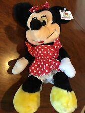 New listing 12� Walt Disney World Minnie Mouse Disneyland Velour Stuffed Plush Toy Euc!