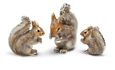 More details for saturno sterling silver and enamel squirrels  - fully hallmarked