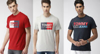 Tommy Hilfiger Jeans Men Logo Red Black Navy Grey GYM T-Shirt Top Tee S M L XL