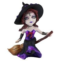 "Hocus Pocus Cosplay Kids Little Witch Figurine On Broom 5.25"" Polystone New!"
