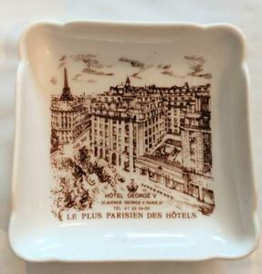 """Vintage Hötel George V Paris Vintage Ashtray """"Le Plus Parisien Des Hotels France"""