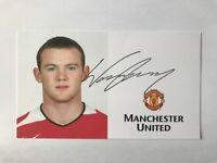 Druck-Autogramm WAYNE ROONEY-Manchester United-NS ENGLAND-DC United/Derby-AK