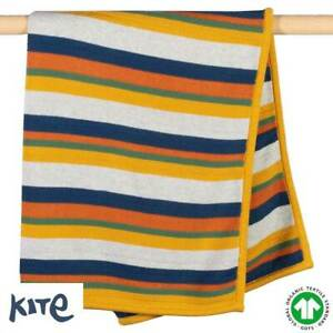 Kite 100% GOTS Organic Cotton Brownsea Knit Blanket (RRP £32)