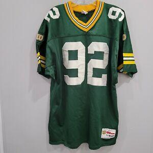 VTG 90s Wilson Authentic Green Bay Packers Reggie White 92 Jersey Men 50 XL Sewn
