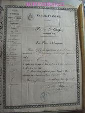 PERMIS DE CHASSE 1869  CONGY ( Marne )