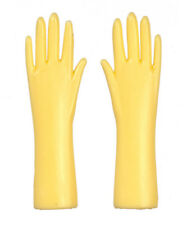 Yellow Rubber Gloves, Dolls House Miniatures, Doll Accessory, Marigolds