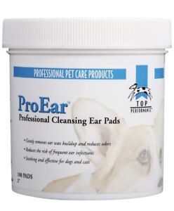 NEW Top Performance ProEar - Dog Cat Ear Cleansing Pads - Grooming - 100 Pads