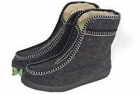 mens / womens  sheeps wool / felt slippers boots warm size 2 - 11