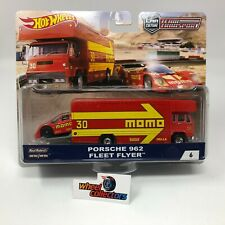 Porsche 962 & Fleet Flyer Momo * Hot Wheels Car Culture Team Transport