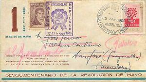 27 - Argentina - Annullo speciale Esposizione filatelica numismatica, 22/05/1960