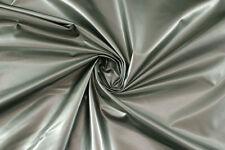 Denim spalmato grigio idrorepellente STOFFA AL METRO TESSUTO A METRAGGIO