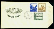 1953 Forestry,Forest Month,Forester,Tree,Mount ain river,Oak,Romania,Mi.1439 ,Fdc