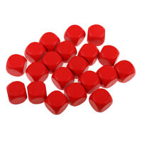 20 Pieces Blank Dice Die Set Table Card Game for Party Gaming Dices Red