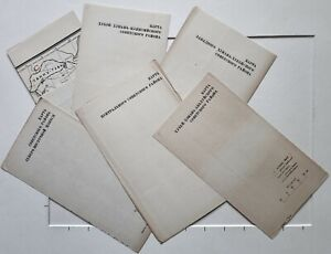 1933 SCARCE SET OF 6 MAPS CSR HISTORIC MAP OF SOVIET CHINESE REGIONS - COMPLETE