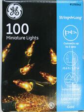 100 Count Gold Christmas / Wedding Mini Lights NIB