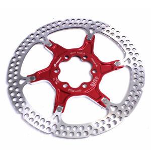 Formula 2 Piece Bike Disc Brake Floating Rotor 160mm Red