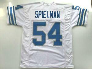 UNSIGNED CUSTOM Sewn Stitched Chris Spielman White Jersey - M, L, XL, 2XL