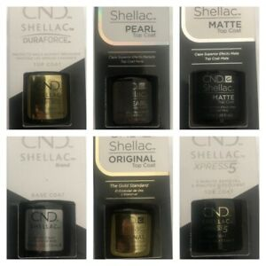 CND Shellac Nail Polish Top Coat Base Coat DURAFORCE  Xpress5 7.3ML, 12.5 & 15ML