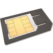 Scheda 4in1 Nano Kit Micro Adattatore SIM Card per Iphone Samsung galaxy Apple u