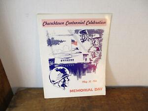 Churchtown Pa Centennial Celebration May 1966