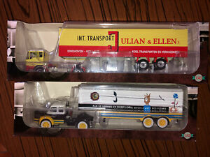 2 SEMI REMORQUES COLLECTION ALTAYA 1/43 - NEUF - DAF 2600 & BERLIET TLM