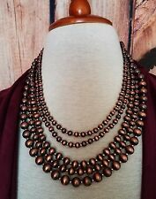 Cowgirl Bling Copper  tone COPPER SURGE PLATE Pearls NECKLACE