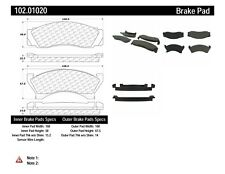 Disc Brake Pad Set-Disc Rear,Front Centric 102.01020