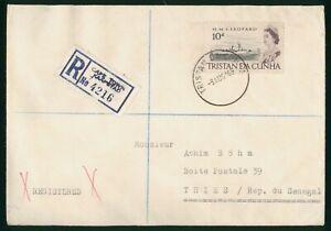 Mayfairstamps Tristan Da Cunha 1969 Registered to Senegal Cover wwo97159