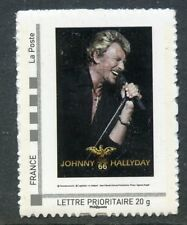 TIMBRE FRANCE NEUF 2009 collector JOHNNY HALLYDAY tour 66 pour les fans
