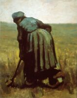 Digging by Vincent Van Gogh Giclee Fine Art Print Reproduction on Canvas