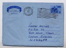 1987 GAMBIA AEROGRAMME TO UK.