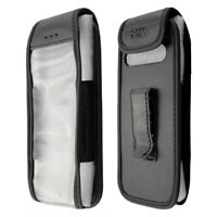 caseroxx Leather-Case with belt clip for Cat B26 in black made of genuine leathe