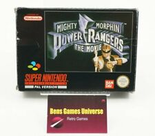 SNES Mighty Morphin Power Rangers the Movie with Original Box and Manual UKV