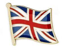 2 x Union Jack Flag Lapel Pins Great Britain High Quality Gloss